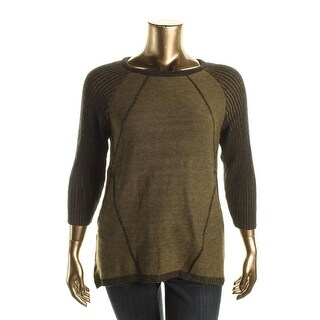 Cable & Gauge Womens Pullover Sweater Marled Hi-Low