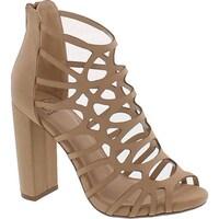 bd3e26b12 Shop Restricted Kissy Women s Fringe Chunky Heel Sandals - Free ...