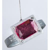 "3"" Fashion Avenue Pink Gemstone Ring Christmas Ornament - CLEAR"
