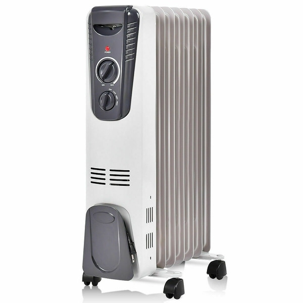 Costway 1500W Electric Oil Filled Radiator Space Heater 5.7 Fin