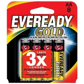 Eveready Gold General Purpose Alkaline AA Batteries 8 ea