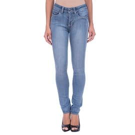 Lola Kate-MLB, High Rise Straight Leg Jeans With 4-Way Stretch Technology