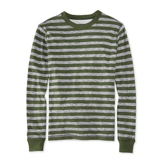 Tommy Hilfiger Weybridge Sweatshirt Large L Forest Green and Gray Striped