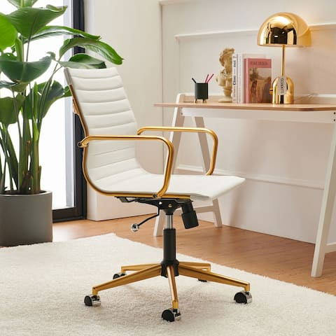 LUXMOD® Gold Office Chair,Adjustable Swivel Chair,Ergonomic Desk Chair for Extra Back & Lumbar Support.