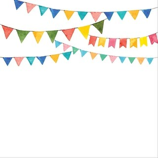 "Ella & Viv Watercolor Party Single-Sided Cardstock 12""X12""-Banners"