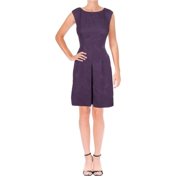 Anne Klein Womens Cocktail Dress Jacquard Fit & Flare - 8