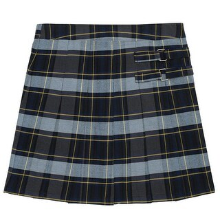 French Toast Girls 7-20 Plaid Tab Scooter - Multi
