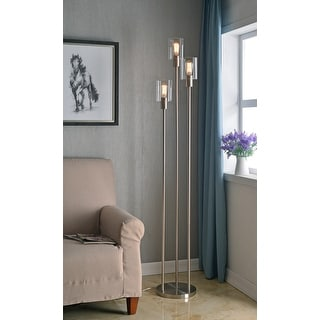 Link to Strick & Bolton Mosley Brushed Steel 73-inch Torchiere Similar Items in Floor Lamps