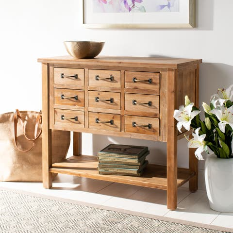 SAFAVIEH Mendie Natural Oak 9-Drawer Chest