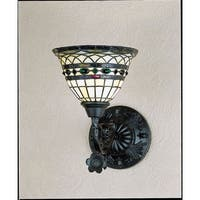 "Meyda Tiffany 27390 Tiffany Roman 14"" Wide 1-Light Wall Sconce with Stained Glass Shade - tiffany glass"