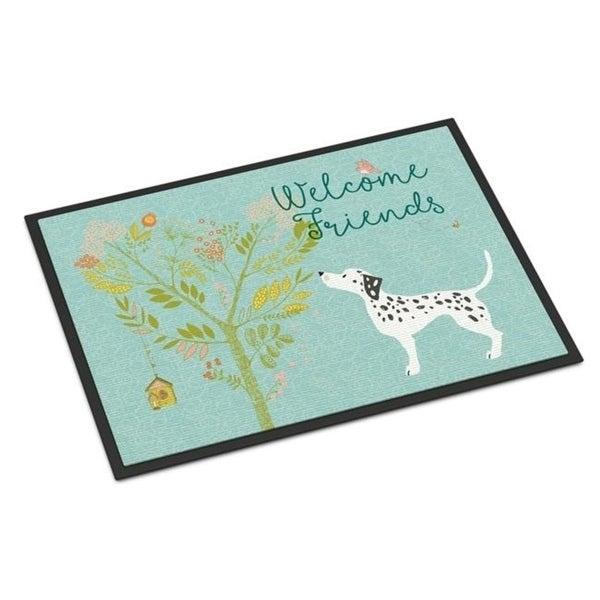 Carolines Treasures BB7585MAT Welcome Friends Dalmatian Indoor or Outdoor Mat 18 x 27 in.