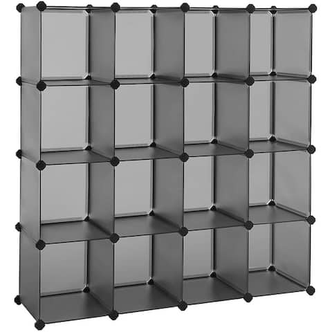16-Cube Book Shelf Storage Shelves Closet Organizer Shelf Cubes Organizer Bookcase