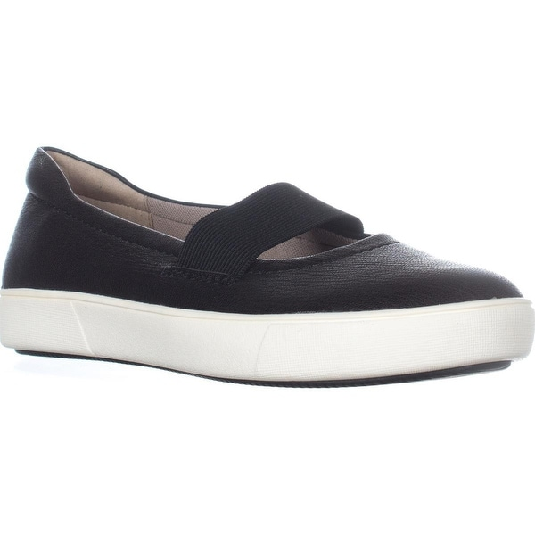 naturalizer Mai Slip-On Comfort Flats, Black Leather