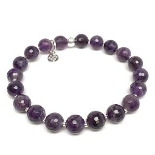 "Purple Amethyst Eve 7"" Bracelet"