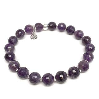 """Purple Amethyst Eve 7"""" Bracelet