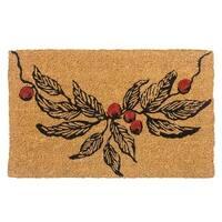 Entryways 9111W Berry Branch Handwoven Coconut Fiber Doormat