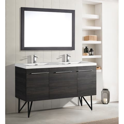 "Swiss Madison Annecy 60"" Double, Two Doors, One Drawer, Bathroom Vanity"