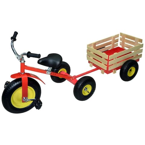 SpeedWay 53498 Retro All-Terrain Trike Tricycle with Wagon