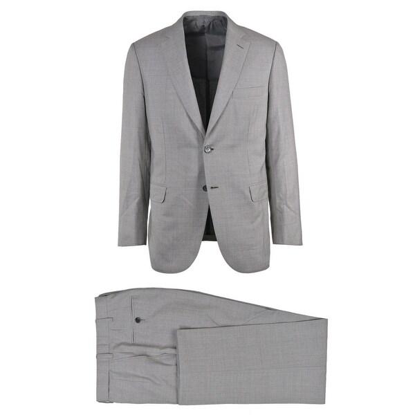 db0e25f430 Shop Brioni Mens Two Button Grey Silk Striped Estense Suit - 40 R ...
