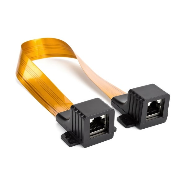 Ghost Wire RJ45 Jumper Cable Flat RJ45 Cat5/Cat6 Extension Cable, .25mm, 1ft.