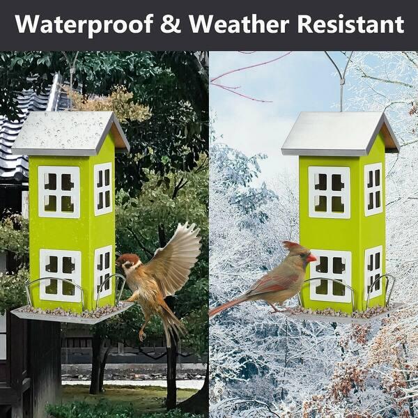 Gymax Outdoor Wild Bird Feeder Weatherproof House Design Garden Yard On Sale Overstock 28681724
