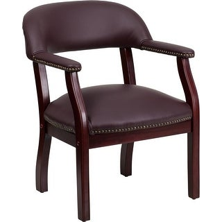 Silkeborg Burgundy Top Grain Leather Conference Chair