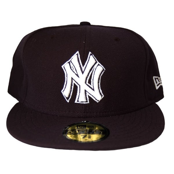 7ea7aea88159d Shop MLB New York Yankees New Era 59Fifty Black Fitted Hat Cap - 7 5 8 -  Free Shipping On Orders Over  45 - Overstock - 16949078