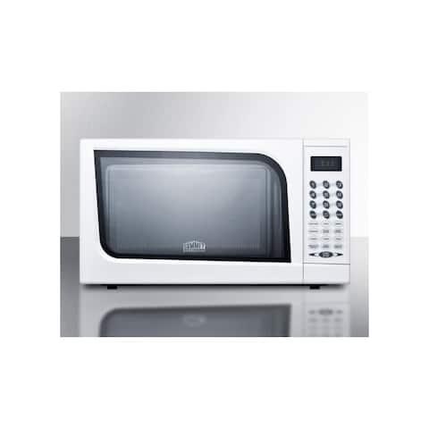 "Summit SM901 18"" Wide 0.7 Cu. Ft. 700 Watt Countertop Microwave - - White"