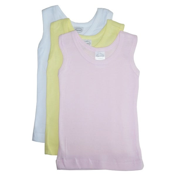 Bambini Girls Pastel Tank Top 3 Pack - Size - Medium - Girl