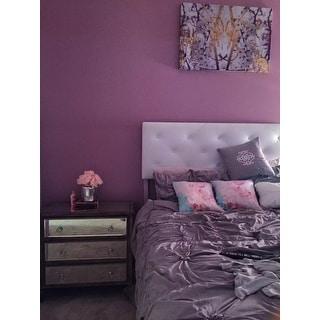 Gracewood Hollow Le Guin Purple Pleated 6-piece Comforter Set