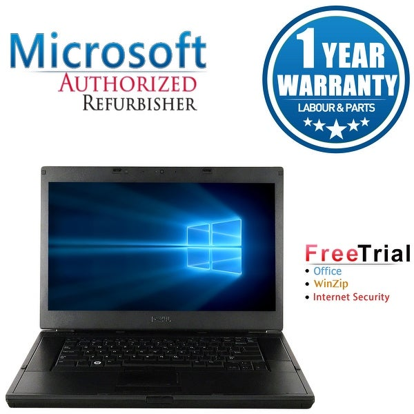 "Refurbished Laptop Dell Latitude E6510 15.6"" Intel Core i5-520M 2.4GHz 4GB DDR3 1TB Windows 10 Pro 1 Year Warranty - Black"