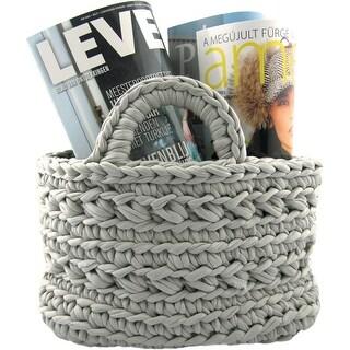 Hoooked Revisto Basket Kit W/Zpagetti Yarn-Medium Gray