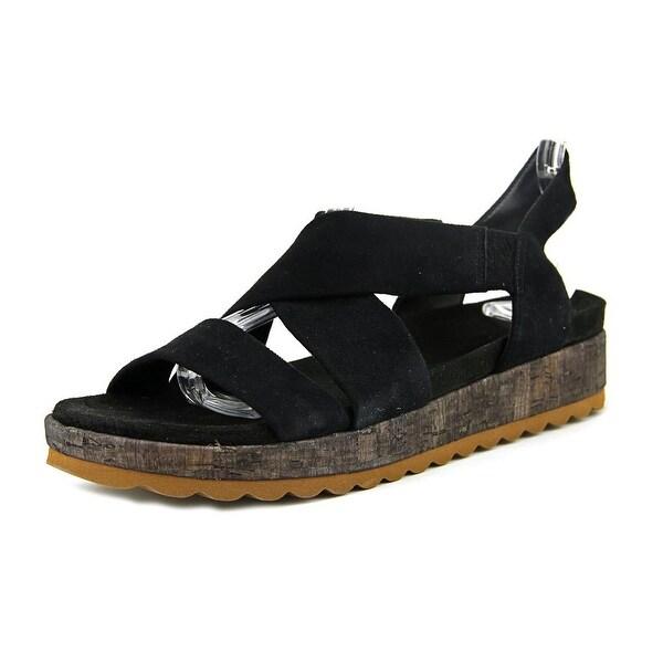 Bernardo Lisa Women Open-Toe Suede Black Slingback Sandal