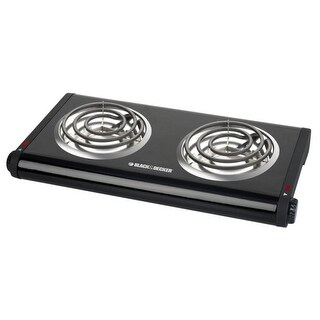 Black & Decker DB1002B Double Burner Range, Black