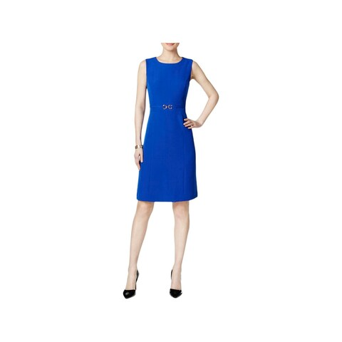 Kasper Womens Wear to Work Dress Embellished Sleeveless