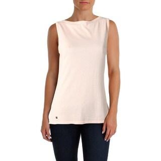 Lauren Ralph Lauren Womens Tank Top Sweater Slim-Fit Bateau