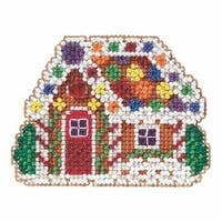 2.75 x 2.75 in. Gingerbread Cottage Beaded Christmas Ornament Kit