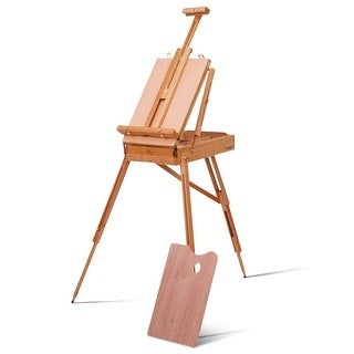 Shop Costway French Easel Wooden Sketch Box Portable