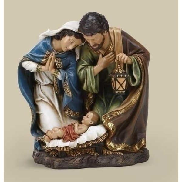 "15"" Joseph's Studio Religious Holy Family with Lantern Christmas Nativity Figure - brown"