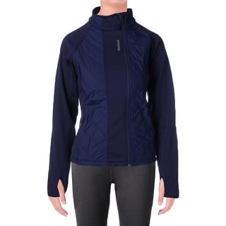 Reebok Womens Alpine Athletic Jacket Quilted Classic Cut