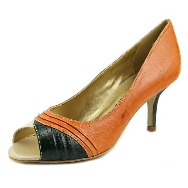 Chinese Laundry Nuance Women Peep-Toe Leather Heels