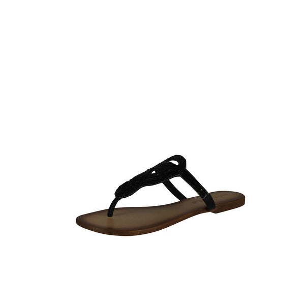 Not Rated Women's Charm City Thong Sandal - Black