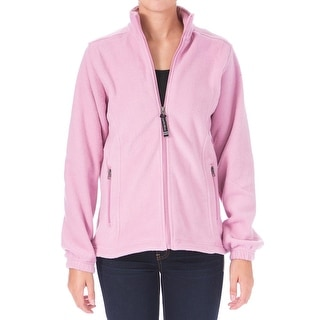 Charles River Apparel Womens Voyager Fleece Jacket Zip Front Long Sleeves
