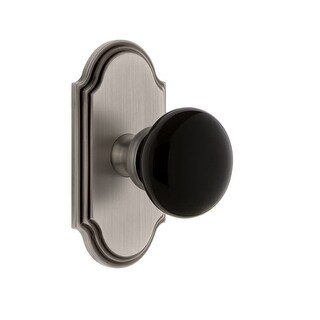 Grandeur ARCCOV_DD_NA  Arc Solid Brass Rose Dummy Door Knob Set with Coventry Knob