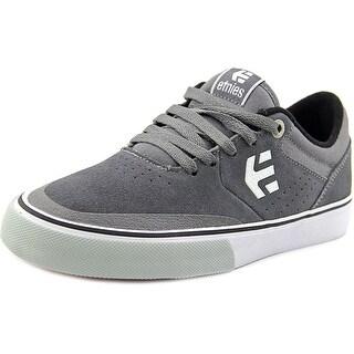 Etnies Marana Vulc Men Round Toe Suede Gray Skate Shoe