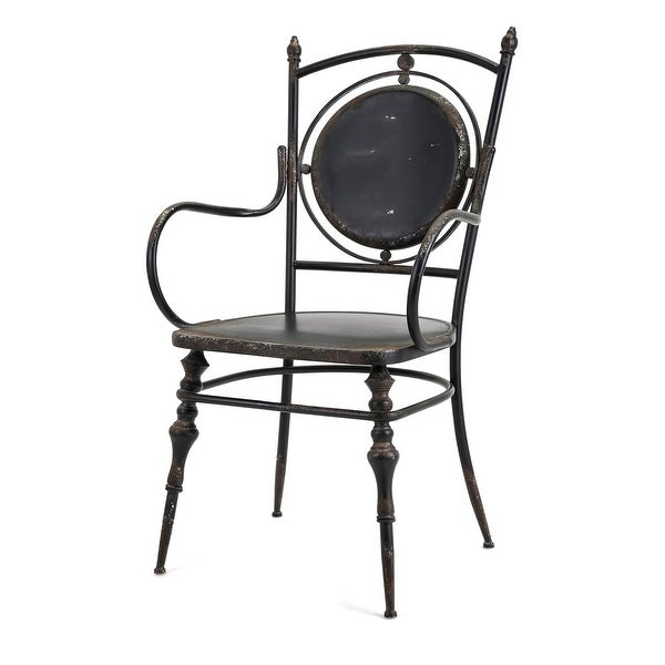 "IMAX Home 19228 Beric 23-1/2"" Wide Iron Occasional Chair - Black"