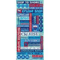 Glitter Word - Cruise Stickers Packaged