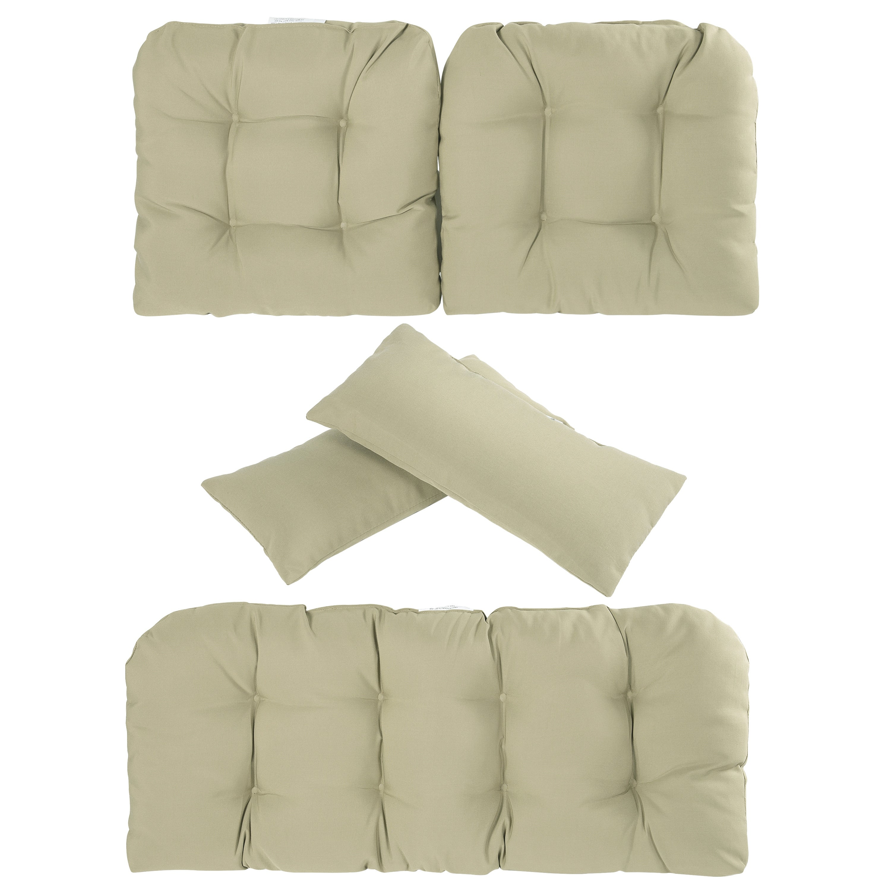 Art Leon 5 Pieces Patio Seat Cushions With Two Throw Pillow Overstock 28001261
