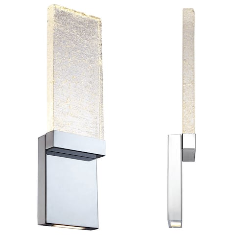"""Modern Forms WS-12721 Glacier 21"""" Height LED Dimming Bathroom Sconce"""