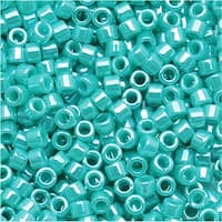 Miyuki Delica Seed Beads, 11/0 Size, 7.2 Grams, Opaque Sea Opal Luster DB1567